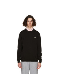 Lacoste Black Organic Cotton Sweatshirt