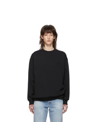 Acne Studios Black Oversized Forba Face Sweatshirt