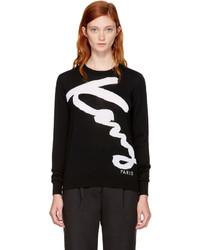 Kenzo Black Signature Logo Sweatshirt