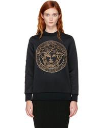 Versace Black Studded Medusa Sweatshirt