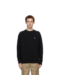 MAISON KITSUNÉ Black Tricolor Fox Clean Sweatshirt