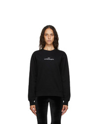 Maison Margiela Black Upside Down Logo Sweatshirt