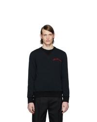 Alexander McQueen Black Vintage Loopback Sweatshirt