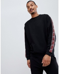 ASOS DESIGN Co Ord Oversized Sweatshirt With Aztec