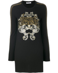 Versace Collection Oversized Embellished Sweatshirt