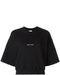 Saint Laurent Cropped Logo Sweatshirt