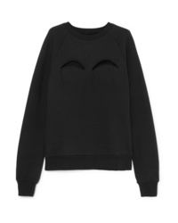 Maison Margiela Cutout Cotton Blend Jersey Sweatshirt