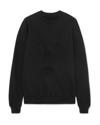 Rick Owens Embroidered Cotton Jersey Sweatshirt