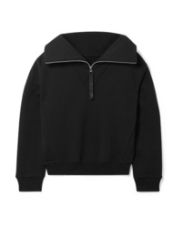 Reebok X Victoria Beckham Embroidered Cotton Jersey Sweatshirt