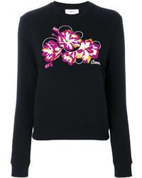 Carven Embroidered Flower Sweatshirt