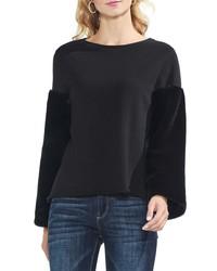 Vince Camuto Faux Fur Sleeve Sweatshirt