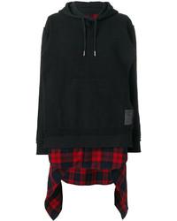 Dsquared2 Flannel Panelled Sweatshirt