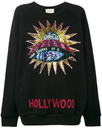 Gucci Hollywood Sequin Embellished Sweatshirt