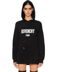 Givenchy Hooded Destroyed Jersey Sweatshirt