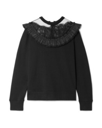 Marc Jacobs Lace And Med Cotton Jersey Sweatshirt