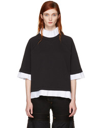 Maison Margiela Mm6 Maison Martin Margiela Black Mock Layered Sweatshirt