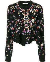 Givenchy Night Pansies Print Sweatshirt