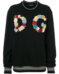 Dolce & Gabbana Oversize Sweatshirt With Floral Patch