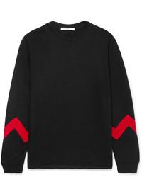 Givenchy Panelled Fleece Back Cotton Blend Jersey Sweatshirt