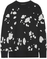 Marc Jacobs Printed Cotton Jersey Sweatshirt Black