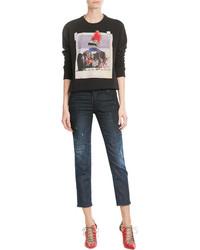 Dsquared2 Printed Cotton Sweatshirt