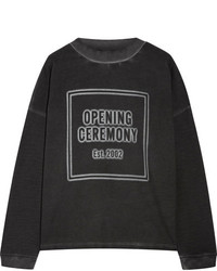 Opening Ceremony Printed French Cotton Terry Sweatshirt Black