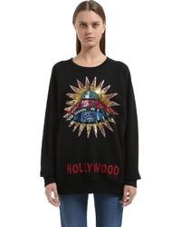 Gucci Sequined Ufo Patch Cotton Sweatshirt
