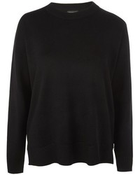Topshop Side Zip Knitted Sweatshirt