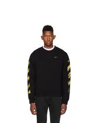 Off-White Ssense Black And Yellow Acrylic Arrows Sweatshirt