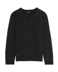 Valentino The Rockstud Cotton Jersey Sweatshirt