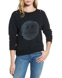 The square destroyed graphic pullover sweatshirt medium 5308715