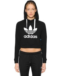adidas Trefoil Cropped French Terry Sweatshirt