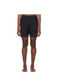 AMI Alexandre Mattiussi Black Ami De Coeur Long Swim Shorts