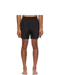Alexander McQueen Black And Off White Contrast Swim Shorts