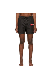 Moncler Black Boxer Bare Swim Shorts