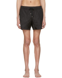 Moncler Black Drawstring Swim Shorts