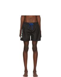 Diesel Black Fold And Go Wave Swim Shorts