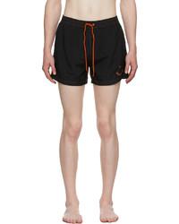 Ps By Paul Smith Black Happy Swim Shorts
