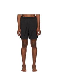 AMI Alexandre Mattiussi Black Logo Long Swim Shorts