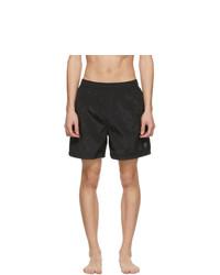 Stone Island Black Logo Patch Swim Shorts