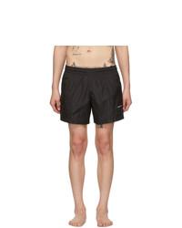 Off-White Black Logo Swim Shorts