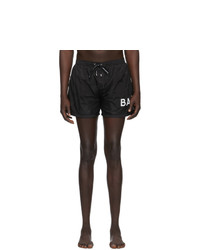 Balmain Black Logo Swim Shorts