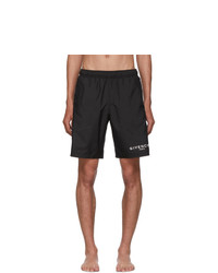 Givenchy Black Long Swim Shorts