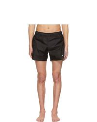 Off-White Black Nylon Logo Swim Shorts