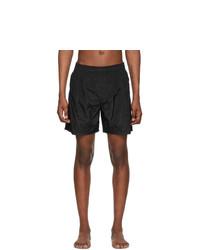 Stone Island Black Nylon Swim Shorts