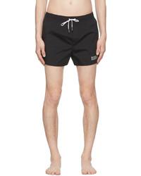 DSQUARED2 Black Silver Icon Swim Shorts