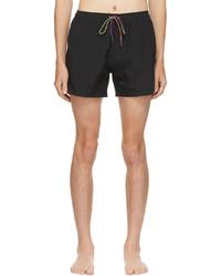 Ps By Paul Smith Black Zebra Logo Swim Shorts