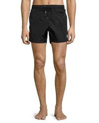 Moncler Nylon Swim Shorts Black