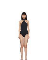 Rudi Gernreich Black Choker One Piece Swimsuit