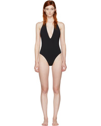 Saint Laurent Black Deep V Swimsuit